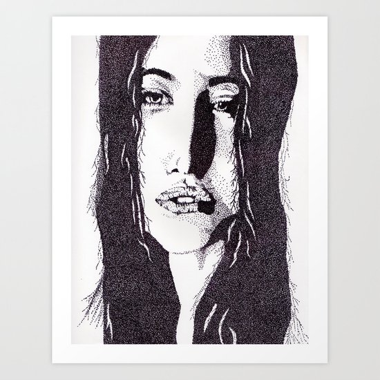 ??? Girl Art Print