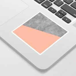 Geometry 101 Sweet Peach Pink Sticker