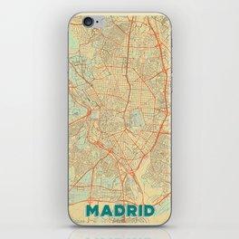Madrid Map Retro iPhone Skin