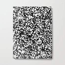 Small Spots - White and Black Metal Print