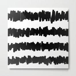 Black and white stripe Metal Print