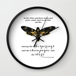 Among the whisperings and the champagne and the stars Wall Clock