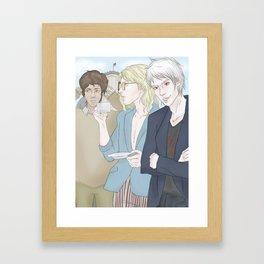 1th Day - Berlin (Hetalia Postcard Serie) Framed Art Print