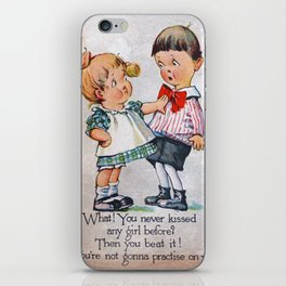 Never Kissed a Girl? iPhone Skin