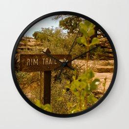 """""""Rim Trail"""" Wall Clock"""