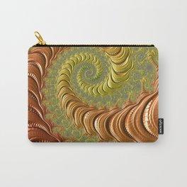 Bronze Twist - Fractal Art Carry-All Pouch