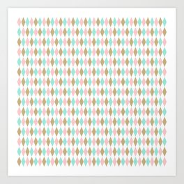 Harlequin Print in Candy Coated Art Print