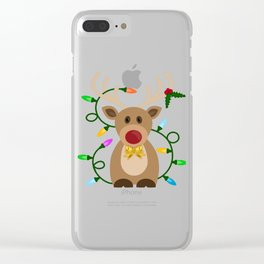 Christmas Reindeer in Lights Clear iPhone Case