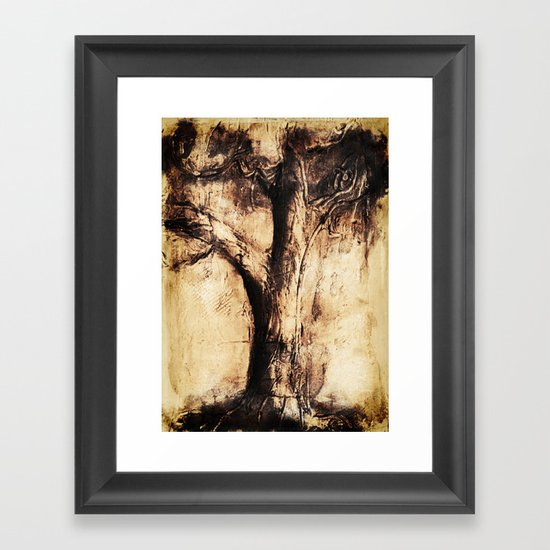 Burnt Tree Framed Art Print