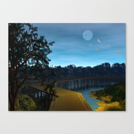 Night in the Jersey Pines Canvas Print