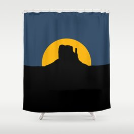 Monument Valley - Left Hand Shower Curtain