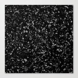 Black Stone Smashed pieces Canvas Print