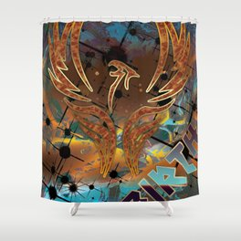 Rebirth of the Phoenix Shower Curtain