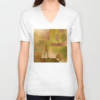 african V-neck T-shirts featuring African by gabiw Art