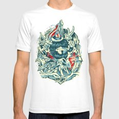 LongLived White Mens Fitted Tee MEDIUM