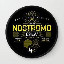 Deep Mining Crew / Nostromo / Alien / Science Fiction / Horror / Typography Wall Clock