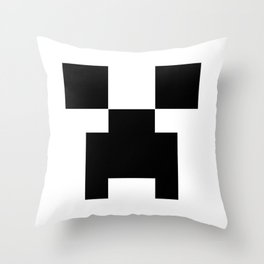 Creeper Face Throw Pillow