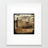 cityscape Framed Art Prints featuring Cityscape by The Strange Days Of Gothicrow
