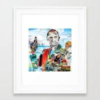 james bond Framed Art Prints featuring Bond James by Pranatheory