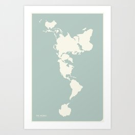 Dymaxion Map of the World Art Print
