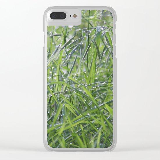 Fresh grass Clear iPhone Case