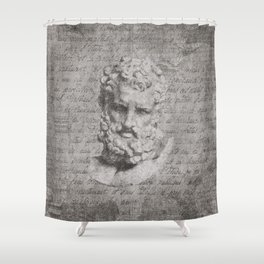 ANCIENT / Head of Herakles Shower Curtain