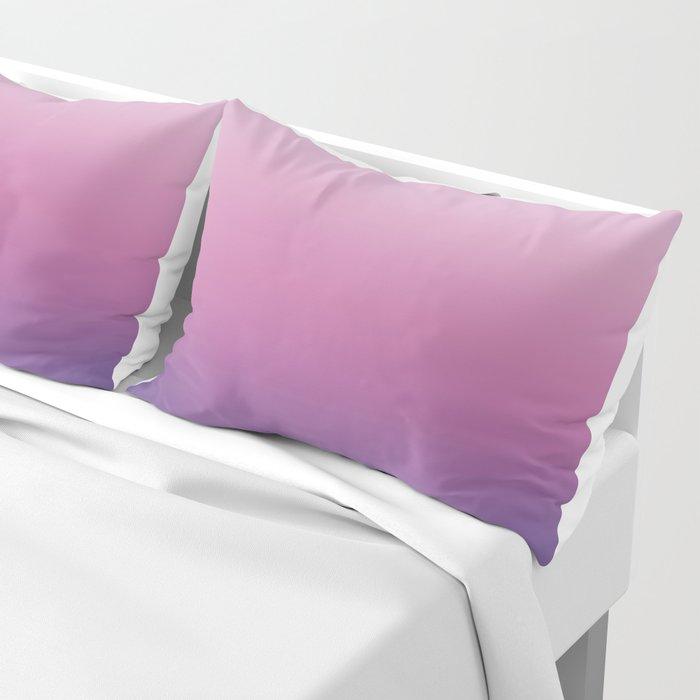 Pink Ultra Violet Ombre Gradient Pattern Pillow Sham