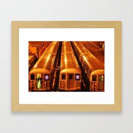 New York Queens Subway 7 Train Yard Framed Art Print