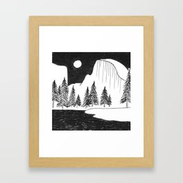Half Dome Yosemite Framed Art Print