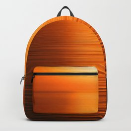Sunset on the Water-Deep Orange Backpack