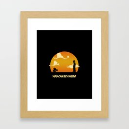 My Hero Sunset Framed Art Print