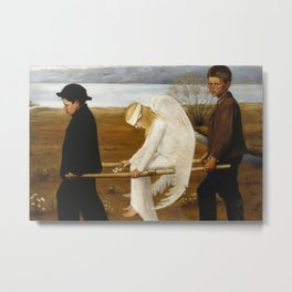 The Wounded Angel by Hugo Simberg, 1903 Metal Print
