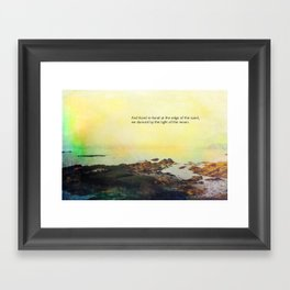 At the Edge of the Sea Framed Art Print