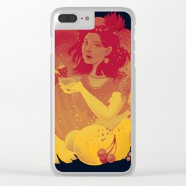Smoothie Girl Clear iPhone Case