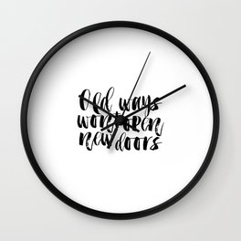 Motivational Quotes Positive Inspiration Positive Poster Dorm Room Inspirational Quotes PRINTABLE Wall Clock