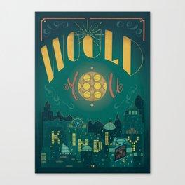 Would You Kindly (Bioshock) Canvas Print