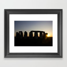 Stonehenge at Sunset Framed Art Print