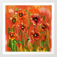 Poppy day Art Print