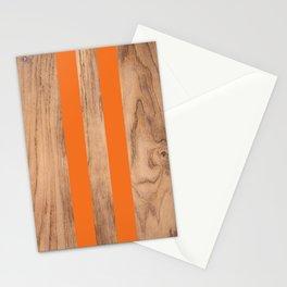 Wood Grain Stripes - Orange #840 Stationery Cards