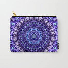 Indulgence of lavendery details in the lace mandala Carry-All Pouch