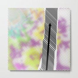 Chemin strié 01 Metal Print
