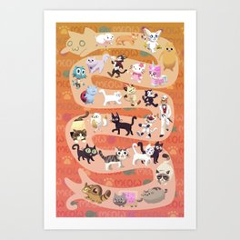 All the cats join in ~ Art Print