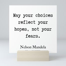 36   | Nelson Mandela  Quotes | 190818 Mini Art Print