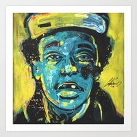 wiz khalifa Art Prints featuring wiz by Nechifor Ionut