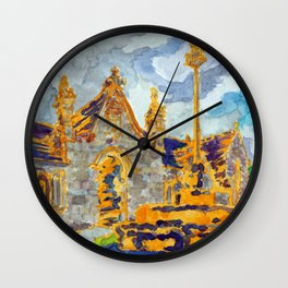 with a cat's company Wall Clock