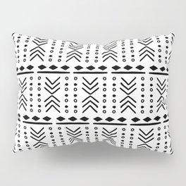 Mudcloth White Pillow Sham
