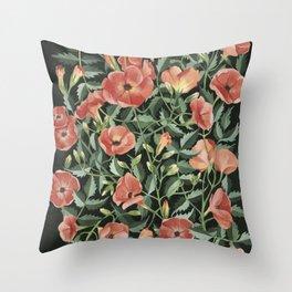 Campsis love Throw Pillow