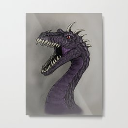 Evil purple dragon Metal Print