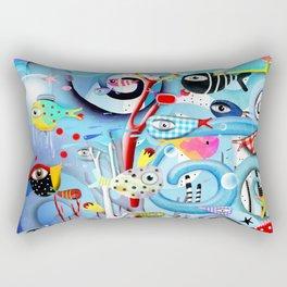 Susan Dreaming Underwater Sea Life Rectangular Pillow