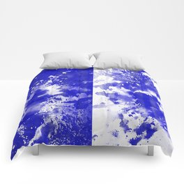 Simply Contrast 5 - Blue And White Study Comforters
